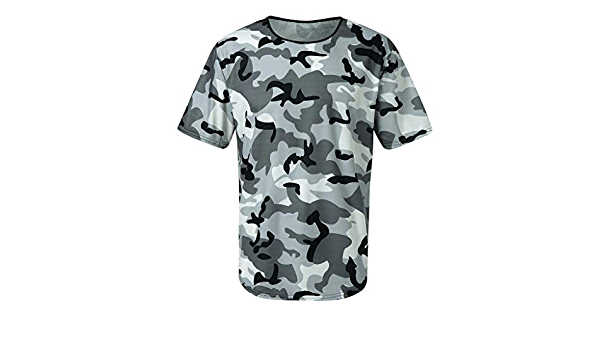 Modische Herren Camouflage Compression Crossfit T-Shirt Herren Sport Fitness Elastisches Hemd Zolimx