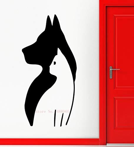 28 * 56cm Cute Animal Dog Cat Mural Pet Shop Spa Grooming Salon Veterinary wall Aufkleber Vinyl Art Home Dekor