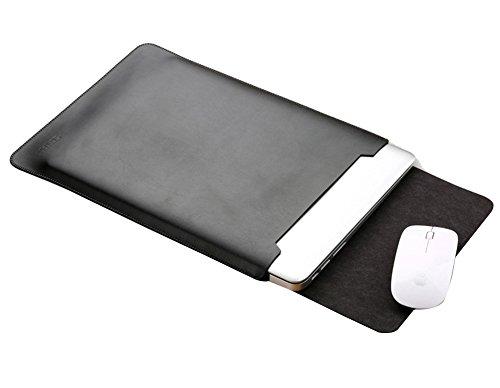 PU-Leder Laptophülle Laptop Sleeve Schutzhülle Laptoptasche Hülle Case für 11.6-15.4 Inch für macbook pro 13.3