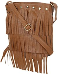 Style Villaz Women Brown Sling Bag