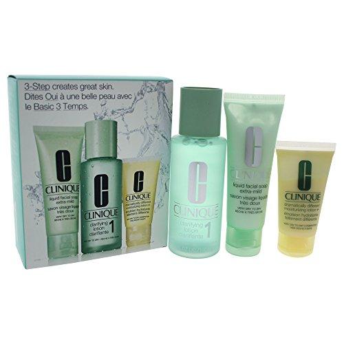 Clinique 3- Phase Systempflege Set, Hauttyp 1 (sehr trockene, trockene Haut) - Trockene Haut-system-kit