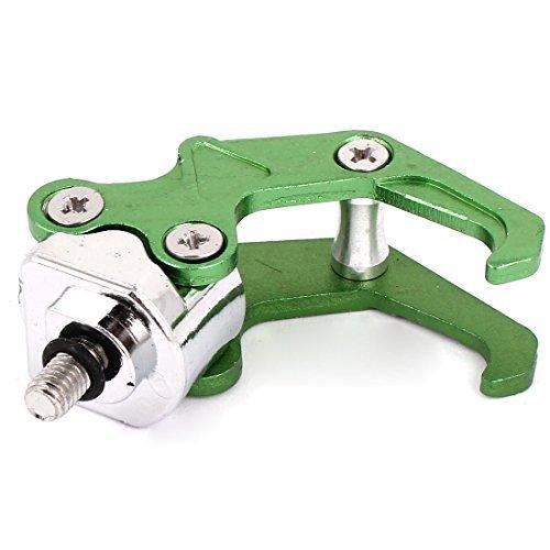 Gancho Bolsa Verde de aleación de aluminio Casco Percha para la moto...