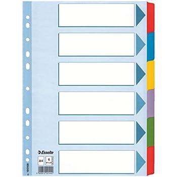 weiss Esselte Kartonregister Blanko, A4, Karton, 12 Blatt
