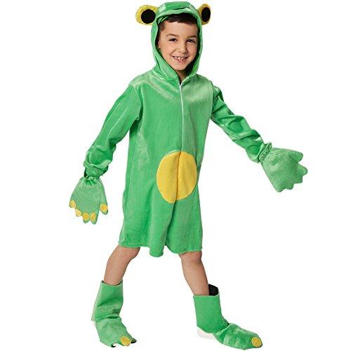 dressforfun 900321 - Kinderkostüm Frosch, aus weichem Plüschstoff, inkl. Handschuhe und Stulpen (116 | Nr. 301547)