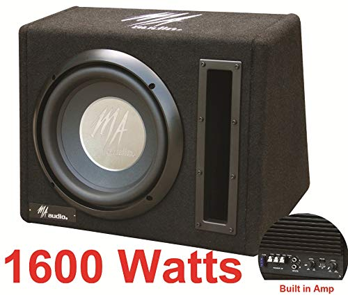 Aktiver Bass-Subwoofer-Box mit 1.600 W, 25,4 cm (10 Zoll), inkl. Kabel -