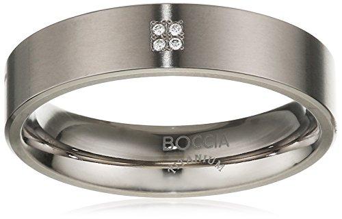 Boccia Damen-Ring Titan 4 Brillianten 0,02 Gr.72 0101-1272