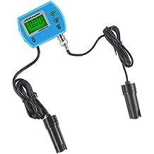 LeaningTech Medidor de conductividad del agua con Pantalla LCD Multifuncional Medidor pH/EC 220 V, 0.00~14.00 pH