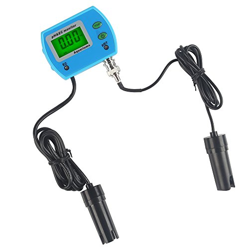 LeaningTech 2 in 1 Multifunktion LCD Messgerät pH EC Meter Tester Wassertest Leitwertmessgerät 220V 0.00~14.00pH