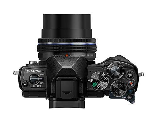 Olympus OM-D E-M10 Mark III Systemkamera (16 Megapixel, 5-Achsen VCM Bildstabilisator, elektronischer Sucher mit 2,36 Mio. OLED, 4k Video, WLAN) Kit silber inkl. 14-42mm Objektiv silber + M.Zuiko Digital ED 40-150 mm Objektiv schwarz - 5