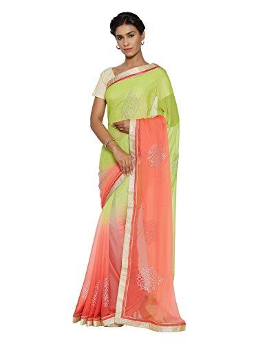 Mahotsav Women's Faux Chiffon Art Silk , Net, Jacquard Sarees ( 8411 )  available at amazon for Rs.1506