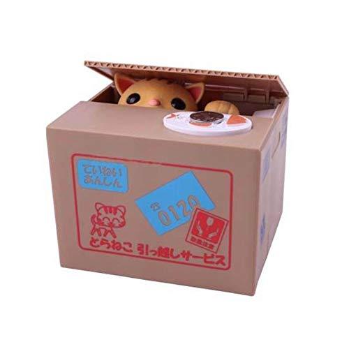 Nicedeal Banco de monedas para gatos, diseño de gatito y piggy, con caja de ahorro de dinero( batería no incluida), Es el mejor regalo para adultos y niños(con voz)