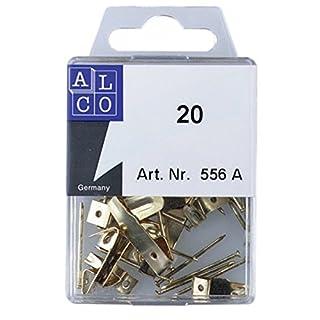 ALCO 556A Bilderhaken 20tlg. Sortiment messing + Stahlnägel