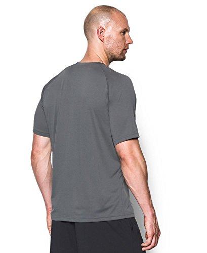 Under Armour T-shirt tactique pour homme lâche couleur thé Heat Gear Graphite/None