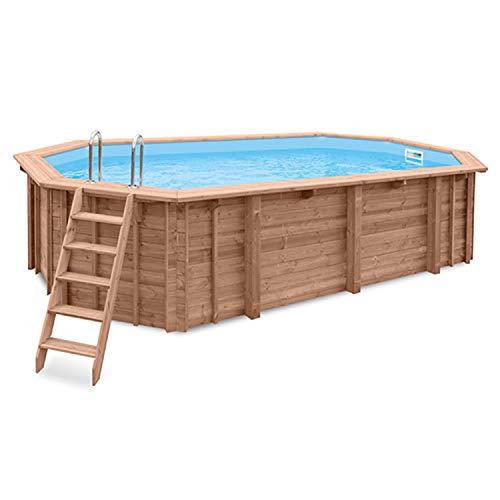 Interline Schwimmbad Holzpool u. Schwimmbecken Bali 640x400x136 cm Sparset inkl. Winterabdeckung