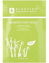 ERBORIAN Bambou Shot Masque Tissu Effet Repeuplant Fraîcheur, 15 g