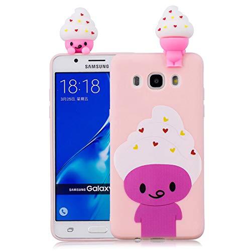 Eis Gel Skin Schutzhülle (EarthNanLiuPowerTu Samsung Galaxy J5 2016 Hülle TPU-Gel-Silikonkautschuk-Schutzhülle aus weichem, ultradünnem Slim Fit handyhülle für Samsung Galaxy J510 | Etilvoll EIS | Shell Skin)