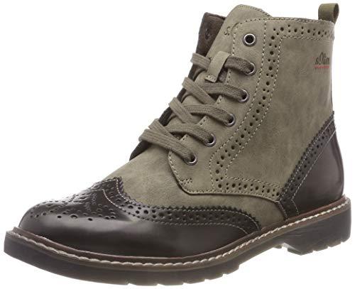 s.Oliver Damen 25465-21 Combat Boots, Grün (Khaki Comb 721), 40 EU