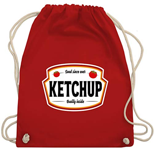 Karneval & Fasching - Ketchup Kostüm Karneval Fasching - Unisize - Rot - WM110 - Turnbeutel & Gym Bag