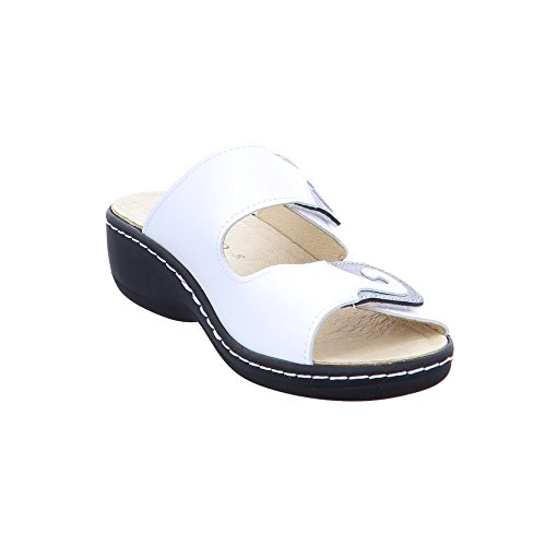 Longo comfort 1006401, Mules pour Femme weiß - offwhite