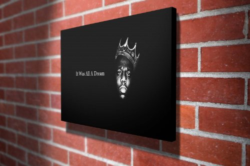 Notorious B.I.G Music Gallery Framed Canvas Art Picture Print