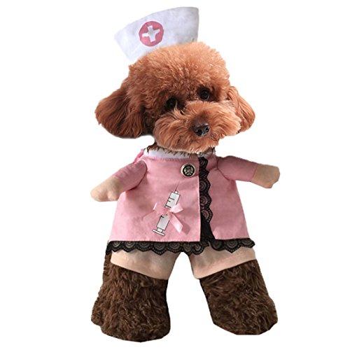 kenschwester Hund Haustier Kapuzenpulli Kleidung Soldat Taekwondo Doktor F1 Cowboy Halloween Hund Kostüm Plus Size Suit (Einzigartige Holloween Kostüme)