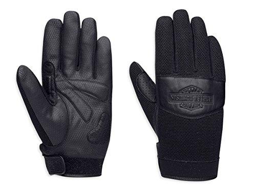 Harley-Davidson Grinder Mesh Gloves 97318-16VM Herren Outerwear, schwarz, XXL (Mesh-herren-motorrad-jacke)