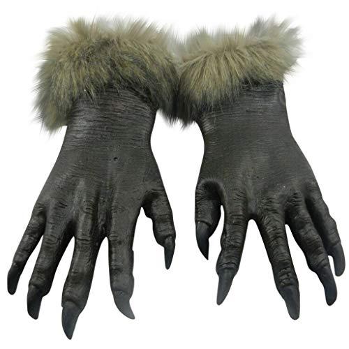 Aoogo Wolf Claws Handschuhe Latex Horrific Kostüm Requisiten für Holloween Party Cosplay Fasching Karneval Party Kostüm Cosplay Dekoration