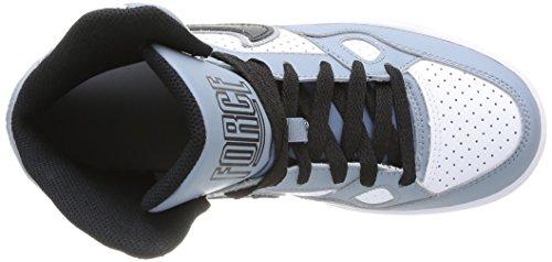 Nike Son Of Force Mid (Gs), Chaussures de basketball garçon Multicolore (Mgnt Grey/Blck-Wht-Mtllc Slvr)