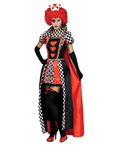 Queen Hearts Of Kostüm Sexy - Horror-Shop Herz Königin Kostüm für Fasching & Halloween S/M
