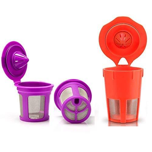 brbhom nachfüllbar K Karaffe Cup Filter, Karafe wiederverwendbar K Pods für Keurig 2.0und 1.0, K200, K300, K400, K500Series des aufbrühens Maschinen - Filter Keurig Karaffe