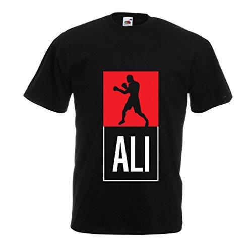 Camisetas Hombre Boxeo - en el Estilo de Lucha para Entrenamiento, Deportes, Ejercicio, Funcionamiento, Ropa de Fitness (Medium Negro