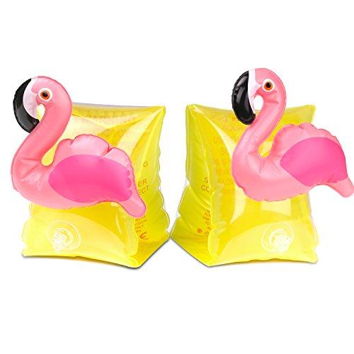 HeySplash Schwimmflüge Schwimmhilfe Kinder Schwimmen lernen Armbands Flotation Aufblasbare Arm Bands Schwimmer,Gelb