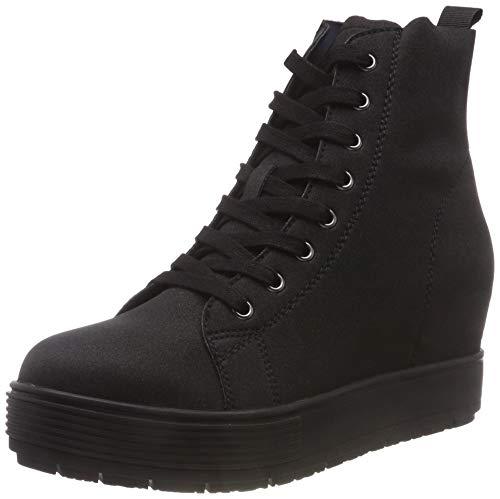 Fornarina sneaker a collo alto donna, nero (meti1 black) 36 eu