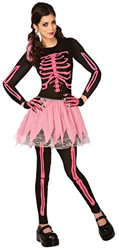 Pink Skeleton Kostüm Punk - Pink Punk Skeleton Adult Xsm