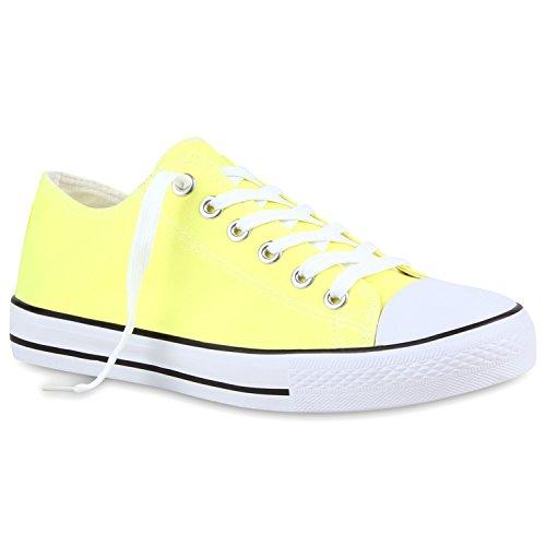 Herren Sneakers   Freizeitschuhe Sportschuhe   Schnürer Stoffschuhe  Fitness Streetstyle   viele Farben Hellgelb
