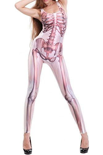 Skelett, Muskel, Meerjungfrau, Cleopatra, USA, Army Print (Skelett & Muskel) (Fleisch Anzug Kostüm)
