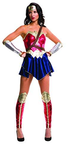 Woman Kostüm 52 Wonder - Fancy Ole - Damen Frauen Frauen glänzendes Metalic Wonder Woman Dawn of Justice Kostüm, perfekt für Karneval, Fasching und Fastnacht, XS, Rot