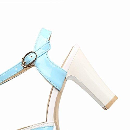 MissSaSa Donna Sandali col Tacco Alto Casual e Dolce Azzurro