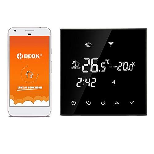 TGT70WIFI-EP  Thermostat Heizung WIFI Raumthermostat Smart Digital Programmierbar Thermostat Fußbodenheizung Elektrische Heizung Temperatur Controller (Schwarz)