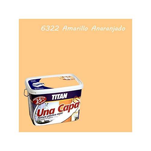 Titan M125516 - Pintura plastica monocapa mate de 5 l amarillo suave
