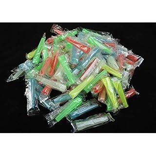 Bayli 100 Stück Shisha Einweg Mundstücke | Hygienemundstücke für Wasserpfeife | Bunt Mix | 5.8cm Lang -Ø Außen 7.9mm | Schlauch Mundstück für Hookah | Plastik-Mundstücke für Shisha Schläuche