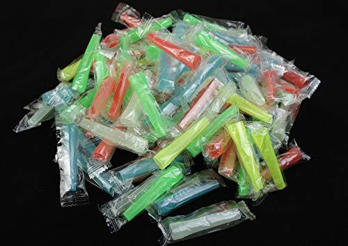 Bayli 100 Stück Shisha Einweg Mundstücke | Hygienemundstücke für Wasserpfeife | Bunt Mix | 5.8cm Lang -Ø Außen 7.9mm | Schlauch Mundstück für Hookah | Plastik-Mundstücke für Shisha Schläuche -