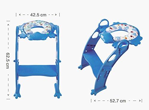 Karibu Cojín Orinal con paso a paso escalera (Azul)