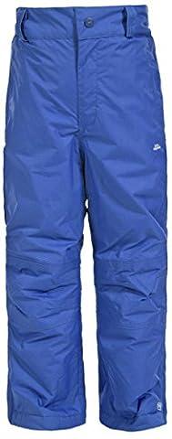 Trespass Nando - Pantalon de ski imperméable - Enfant unisexe (5-6 ans) (Bleu électrique)