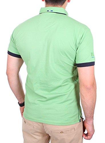 Reslad Polo-Shirt Herren Slim Fit Button-Down-Kragen Polo-Hemd RS-5202 Grün