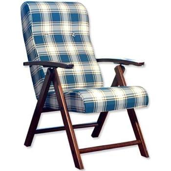 Poltrona sedia sdraio amalfi colore verde in legno for Sedie per salone
