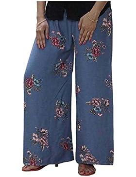 Indian Handicrfats Export DiscountZila Flared Women's Linen Purple, Blue Trousers
