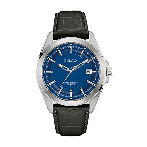 bulova-precisionist-96b257-herren-designer-armbanduhr-armband-aus-leder-blaues-zifferblatt