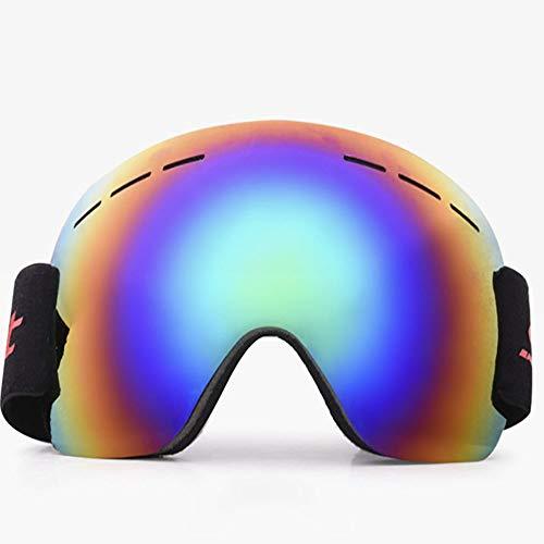 HUIHUAN Skibrille - Rahmenlose, auswechselbare 100% UV400-Schutzbrille für Männer & Frauen & Jugendliche,greendiaphragm