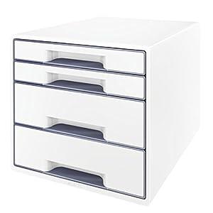 Leitz Schubladenbox WOW CUBE 4 Schubladen, Weiß